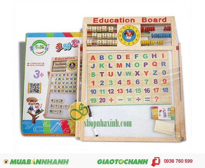 Bảng tính 2 mặt đa năng kèm bộ chữ cái cho bé NX791 bằng gỗ giúp bé tập viết, tập đếm, làm quen với các con số, mặt chữ & làm toán một cách nhanh chóng lại có thể nhớ lâu hơn & có những giờ phút học tập thật thú vị.0