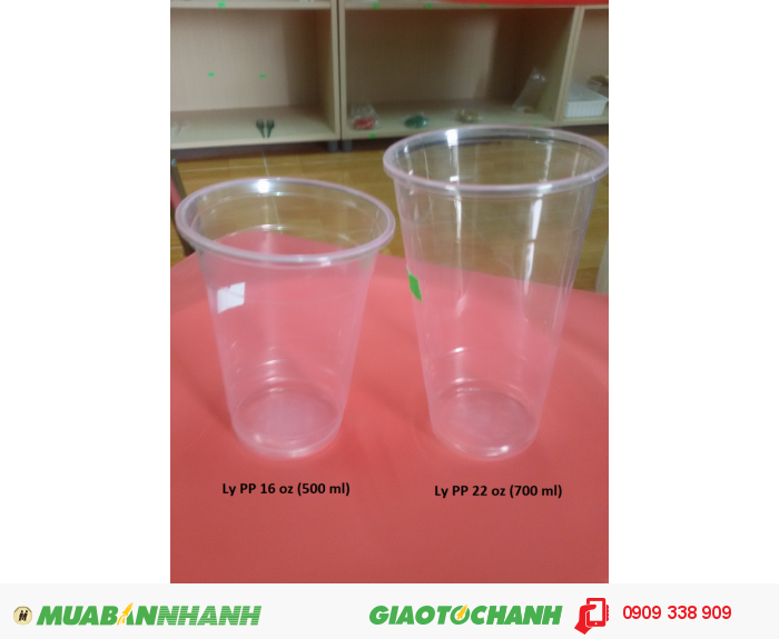 Ly nhựa PP trơn 500 ml và ly nhựa PP trơn 700 ml2