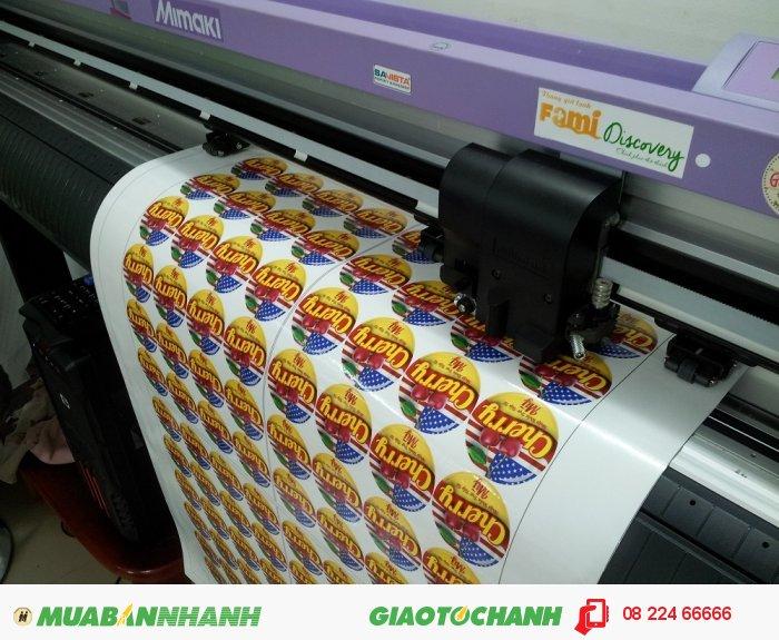 Đồng bộ bế sticker decal trên máy bế Mimaki của Nhật