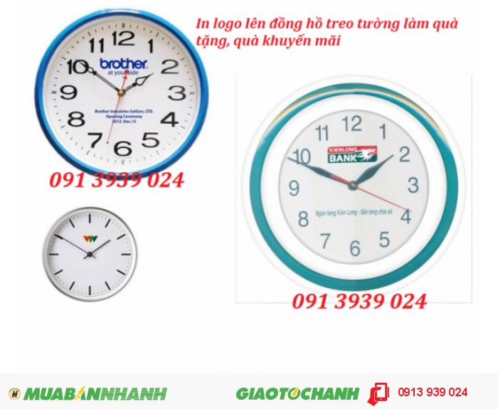 Đồng hồ treo tường giá rẻ, đồng hồ in logo theo yêu cầu