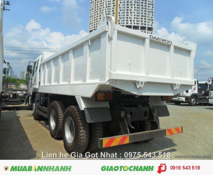 Xe ben Daewoo 10 khối, tải trọng 15 tấn, chất lượng bền bỉ, giao ngay! 1