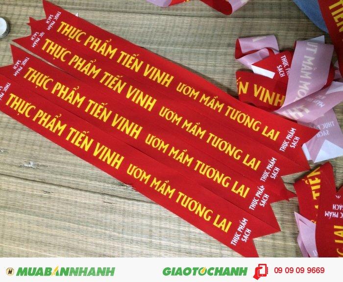 Dải băng đeo chéo cho chương trình sự kiện là một trong những ứng dụng in silk...
