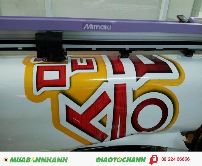 Máy bế Mimaki tại In Kỹ Thuật Số bế chi tiết hình ảnh decal PVC - bế theo chính...