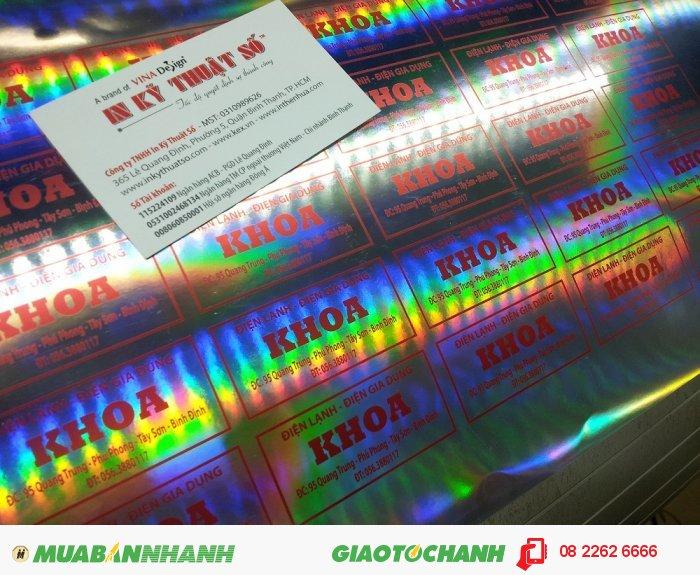 In decal 7 màu làm tem nhãn cho cửa hàng Điện lạnh - Điện gia dụng Khoa - khách hàng của In Kỹ Thuật Số, 1