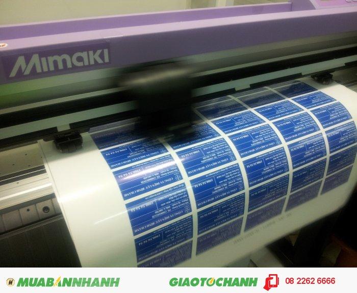 Máy bế Mimaki tại In Kỹ Thuật Số bế chi tiết hình ảnh tem nhãn decal - bế theo chính xác đường viền, 5