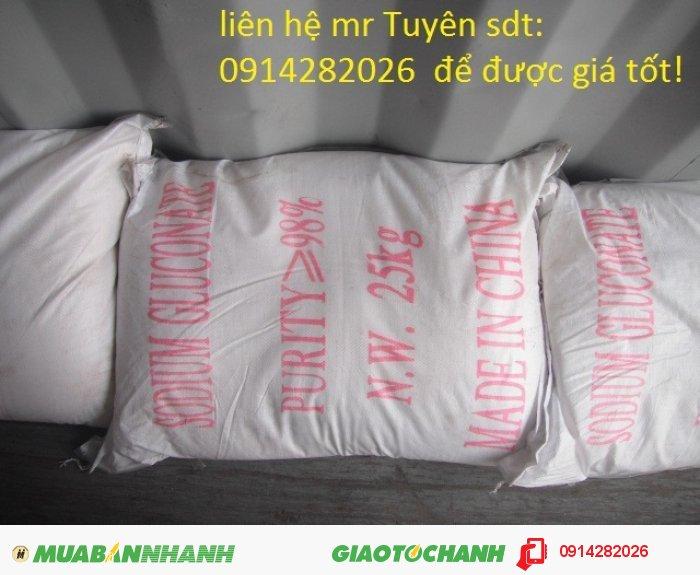 Bán Sodium Gluconate C6H11NaO7 - phụ gia bê tông0