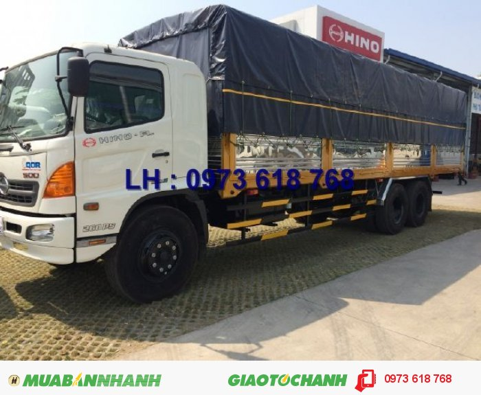 Xe Hino 3 chân 16 tấn thùng kín 7m8, Hino FL8JTSA, giao xe toàn Quốc 4