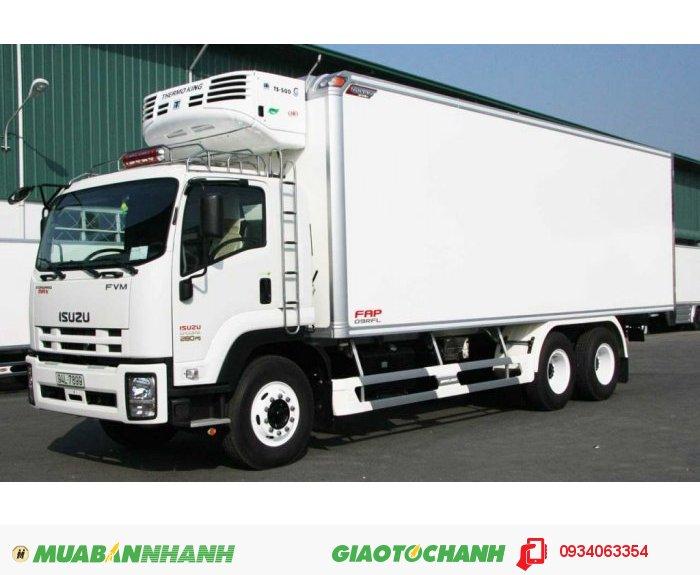 Xe tải ISUZU 3 chân, 16 tấn thùng kín thùng Mui bạt Giao Xe Toàn Quốc
