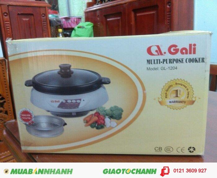 Lẩu điện Gali GL-1204, có nướng