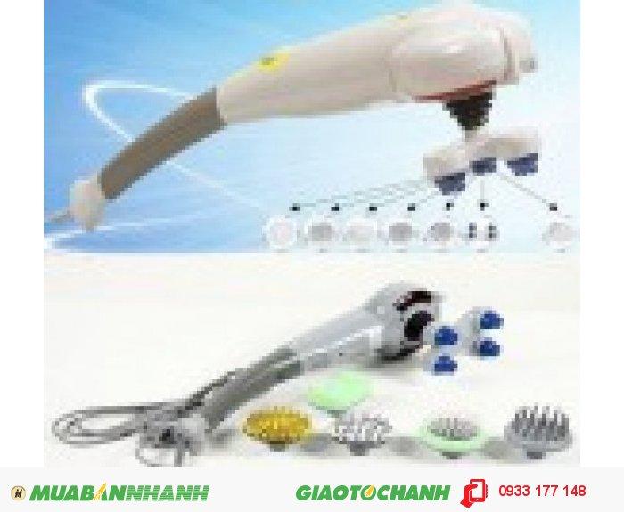 Thông số kỹ thuật + Tên sản phẩm: Máy massage cầm tay Magic + Điện áp: 220v-50hz + Công suất: 30w + Trọng lượng:1700 g + Kích thước hộp: 45 x 15 x 17 cm + Bảy đầu massage + Bảo hành: 12 tháng