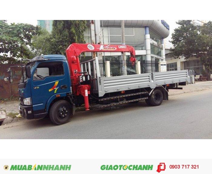 Bán xe tải Veam gắn cẩu/xe tải Veam VT490 gắn cẩu Unic 3 tấn 4 khúc