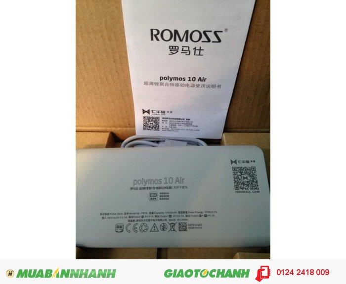 Pin Dự Phòng Romoss Polymos 10 Air New 2016 (10.000 mah)3