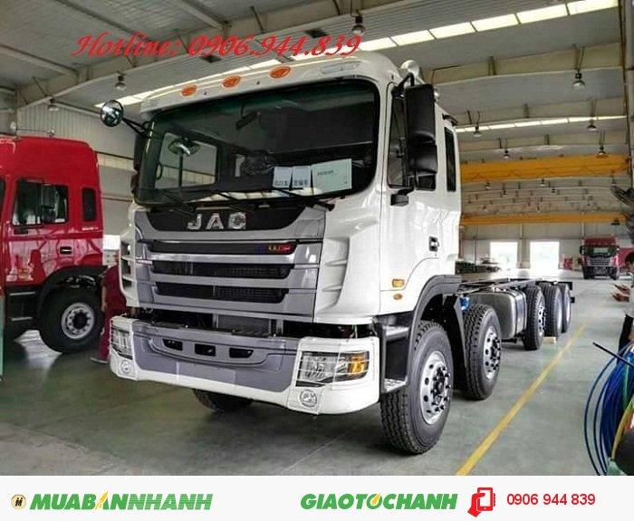 Công ty bán xe tải 5 chân 22 tấn/22T trả góp/nơi bán xe tải Jac 340Hp 22 tấn/22T máy Weichai rẻ nhất 0