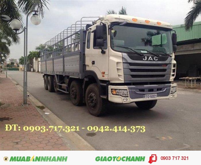 Xe tải Jac 5 chân 22 tấn máy 340Hp Cabin Gallop. Xe tải thùng Jac 5 chân 22T động cơ Weichai 340HP 0