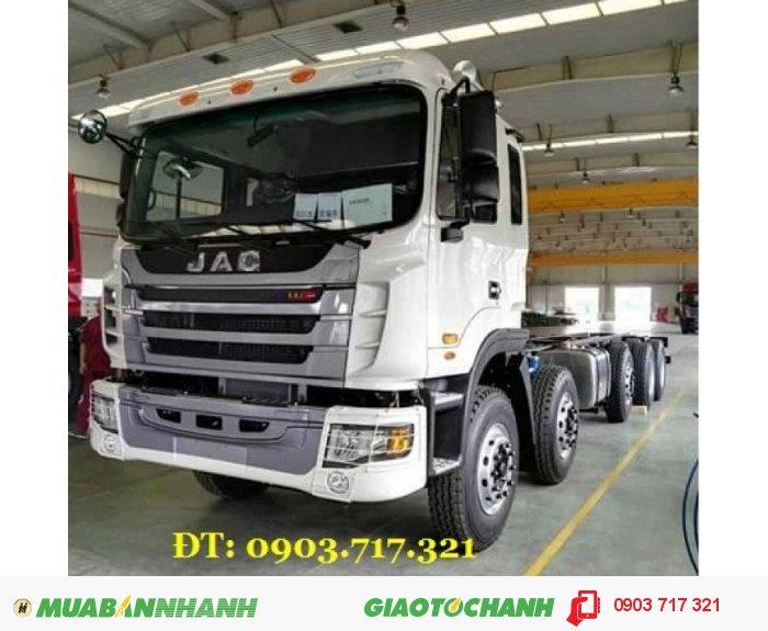 Xe tải Jac 5 chân 22 tấn máy 340Hp Cabin Gallop. Xe tải thùng Jac 5 chân 22T động cơ Weichai 340HP 1