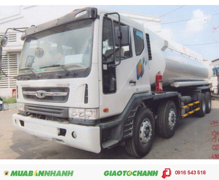 Xe tải Daewoo 4 chân M9AEF đóng bồn chở xăng dầu thể tích 22m3. 0