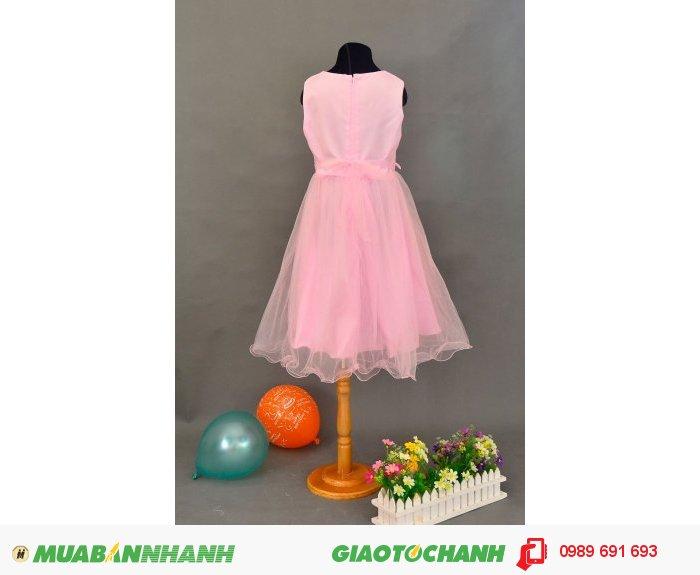 Đầm bé gái 3 bông hồng trắng4