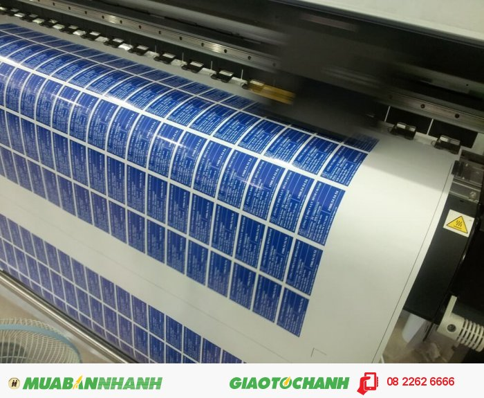 Bế tem decal sữa hình chữ nhật, bế tem số lượng lớn trên máy bế Mimaki - thự...