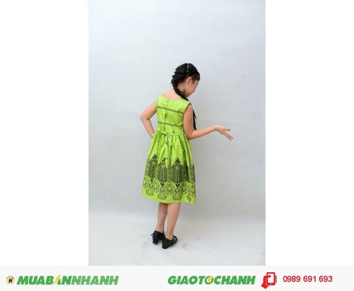 Đầm bé gái xanh lá1