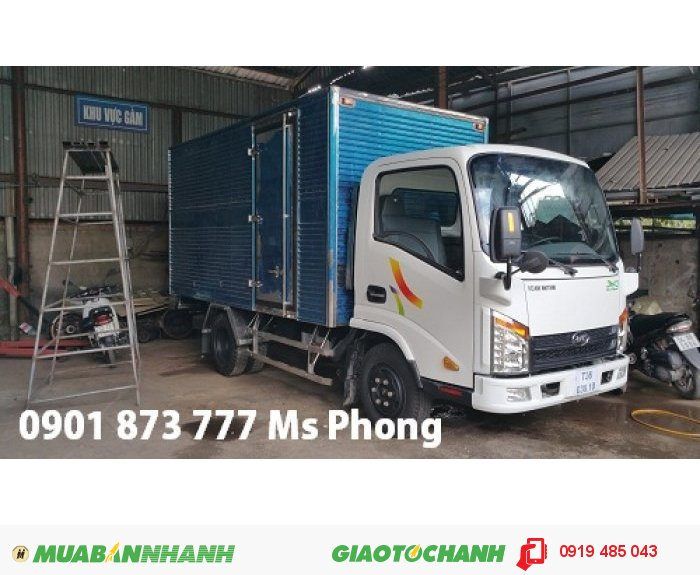 Giá bán xe tải Veam VT252 2.4 tấn 2T4 tốt nhất, Mua xe tải Veam 2.4 tấn Vt252 trả góp lãi suất thấp