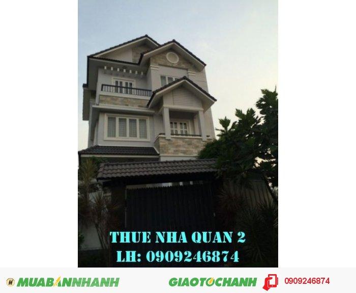 Cho thuê biệt thự Quận 2, P.Thảo Điền DT lớn, 51 triệu/tháng