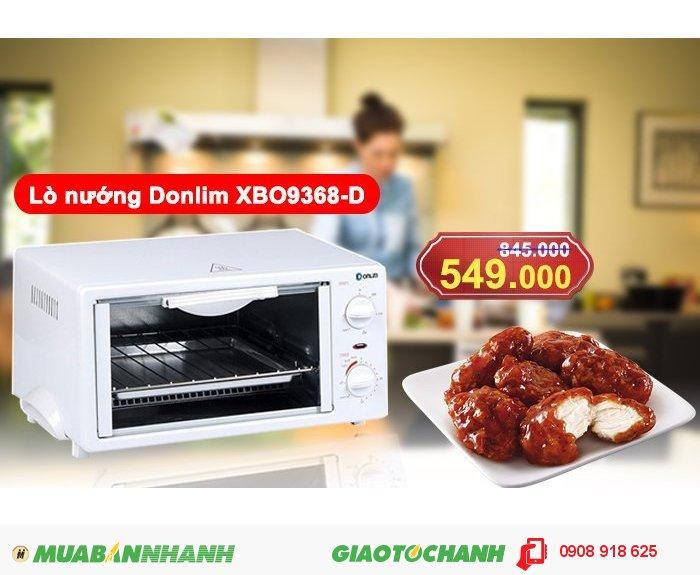 Giảm giá lò nướng nhỏ gọn- tiện lợi Donlim XBO9368-D chỉ còn 549.000
