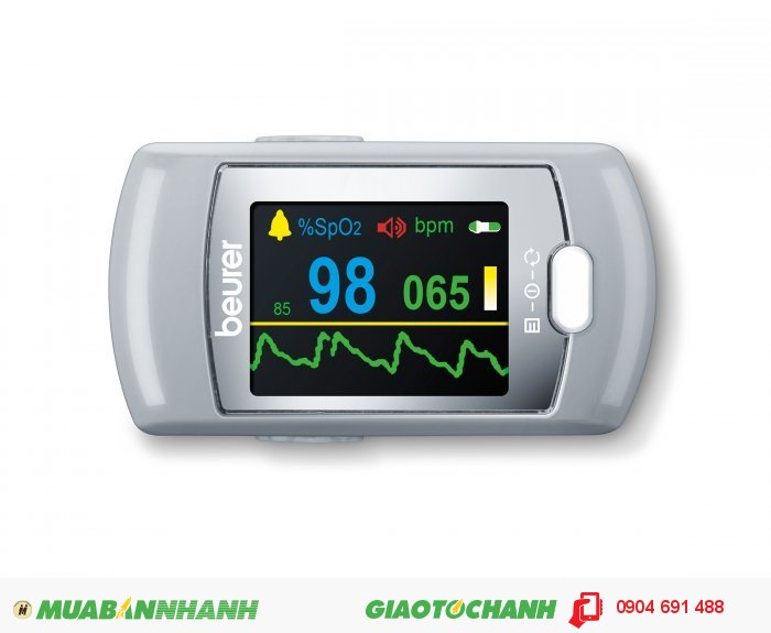 Máy đo nồng độ bão hòa Oxy trong máu (SpO2) và nhịp tim Beurer PO80 kết nối với máy tính