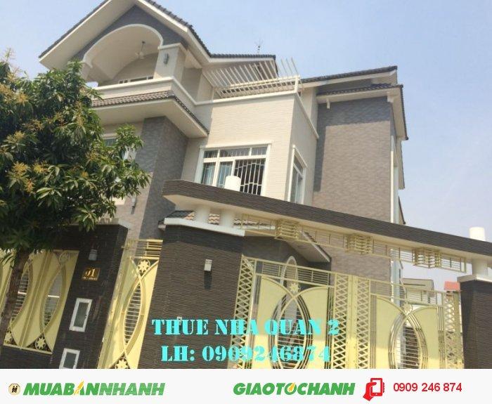 Cho thuê biệt thự Thảo Điền 20x20m, 68 tr/tháng, trệt 2 lầu, 5PN