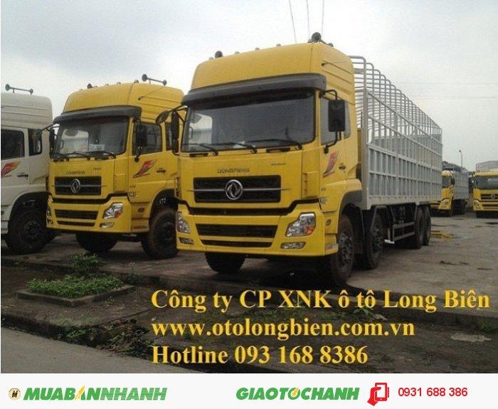 Xe sat xi, tải thùng 4 chân Dongfeng tải trọng 17-17,9 tấn Long Biên, Hà Nội 2016