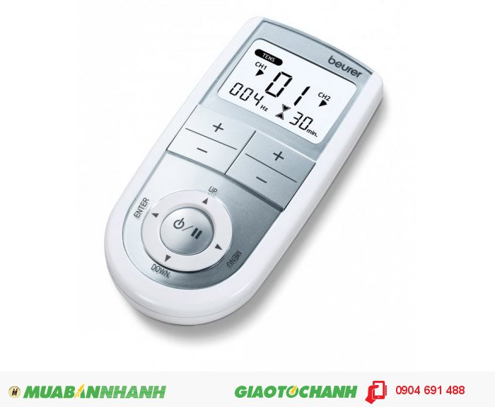 Máy kỹ thuật số 3 trong 1 massage xung điện trị liệu 4 miếng dán điện cực tiếp xúc Beurer EM41 kích thích thần kinh cơ giảm đau thư giãn của CHLB Đức hàng nhập khẩu chính hãng - Công ty Hợp Phát