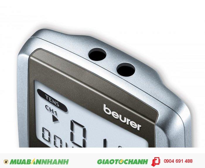 Máy kỹ thuật số 3 trong 1 massage xung điện trị liệu 4 miếng dán điện cực tiếp xúc Beurer EM41 kích thích thần kinh cơ giảm đau thư giãn của CHLB Đức hàng nhập khẩu chính hãng