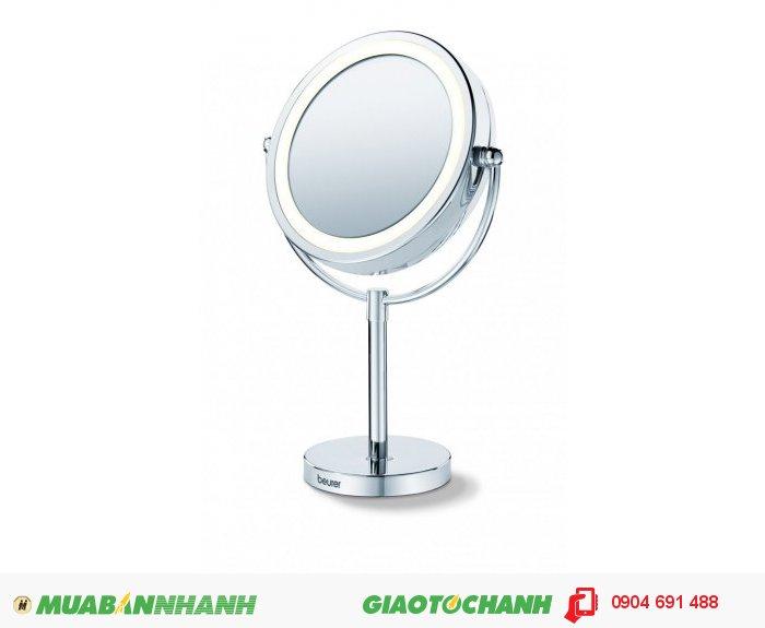Gương trang điểm đứng bàn 2 mặt, phóng to 5 lần Beurer BS69 tích hợp đèn LED của CHLB Đức