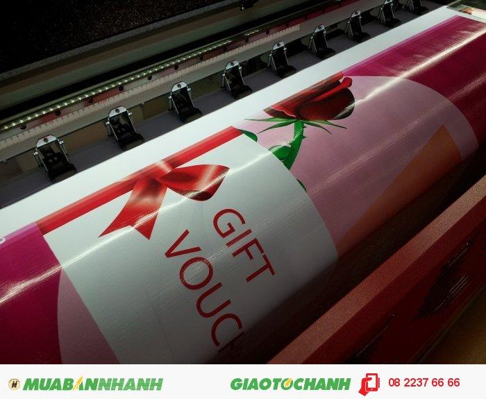 In phông nền quảng cáo, chương trình tặng Gift Voucher | In hiflex khổ lớn | Mực dầu | Lấy hàng nhanh từ 1 - 2 ngày