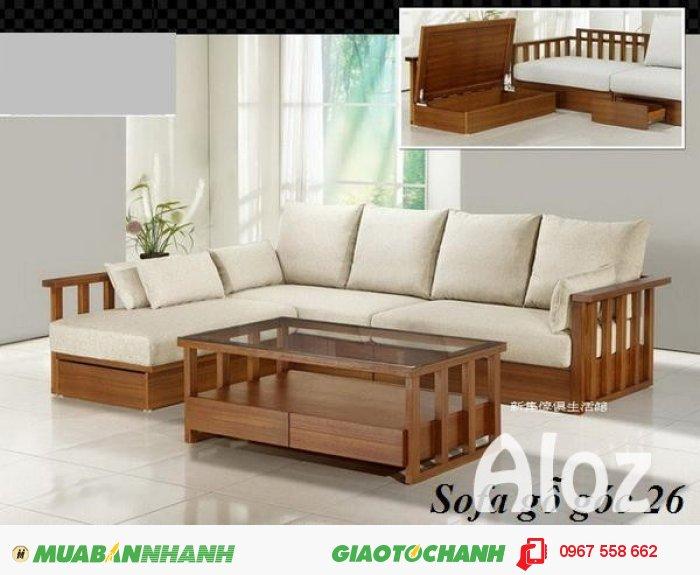 Sofa gỗ tự nhiên sang trọng0
