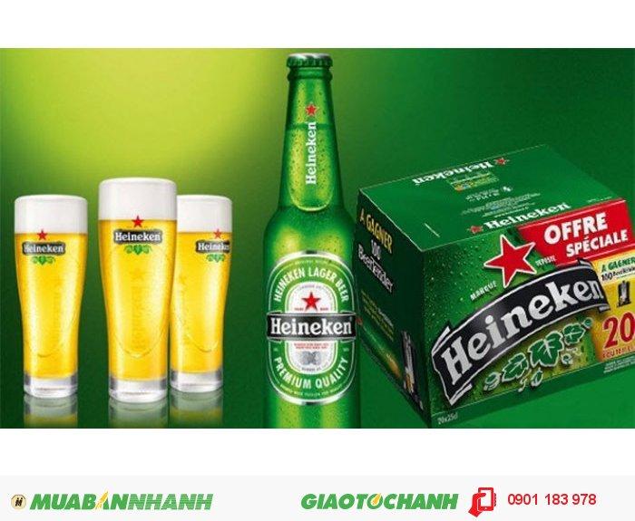Bia Heineken Pháp 20 chai, 250ml. Giá 410.000đ