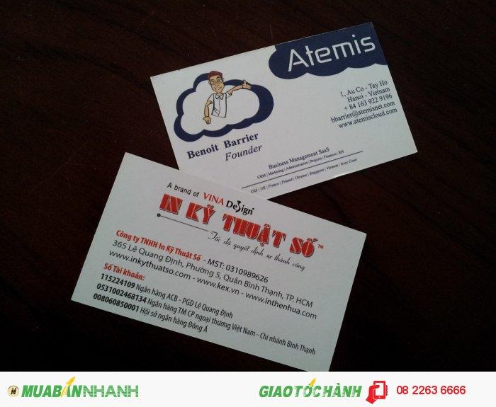 In name card sắc nét cho khách hàng thuộc công ty nước ngoài - thực hiện in bởi In...