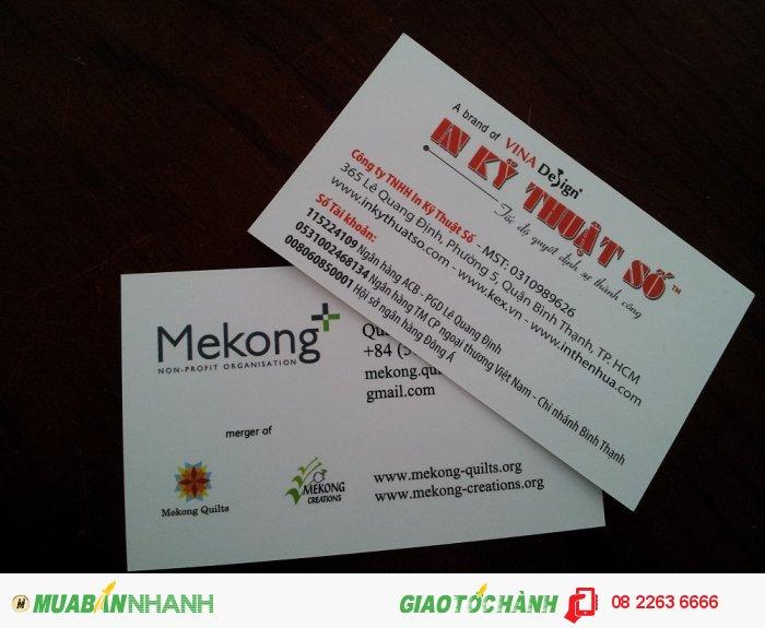 In name card giá rẻ - dịch vụ in nhanh name card của In Kỹ Thuật Số