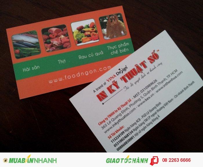In name card nhanh lấy liền, in name card giá rẻ từ In Kỹ Thuật Số