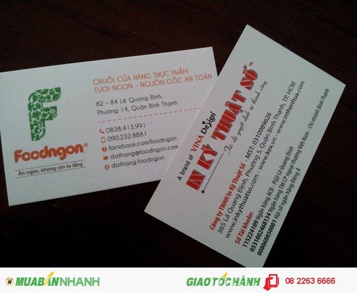 Card visit được in ấn bởi In Kỹ Thuật Số