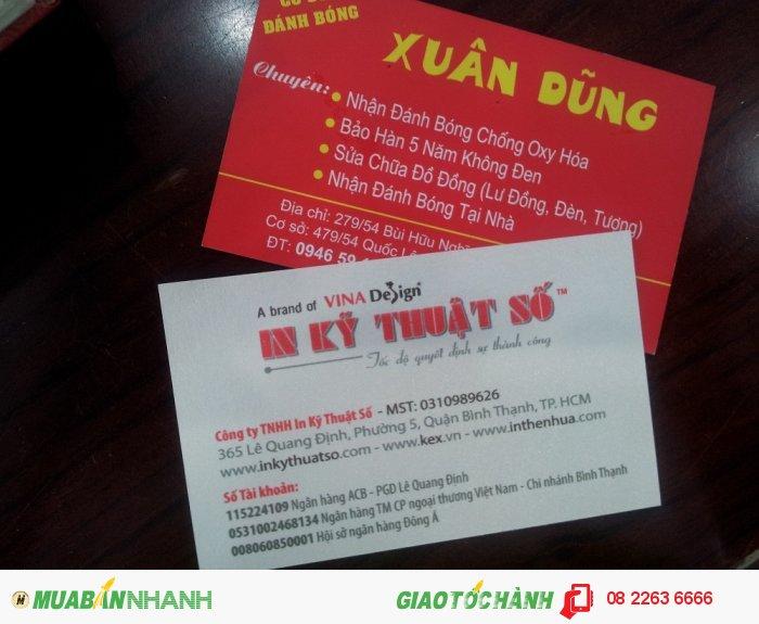 In nhanh card visit giá rẻ - In card visit đơn giản, đầy đủ thông tin tại In Kỹ Thuật Số
