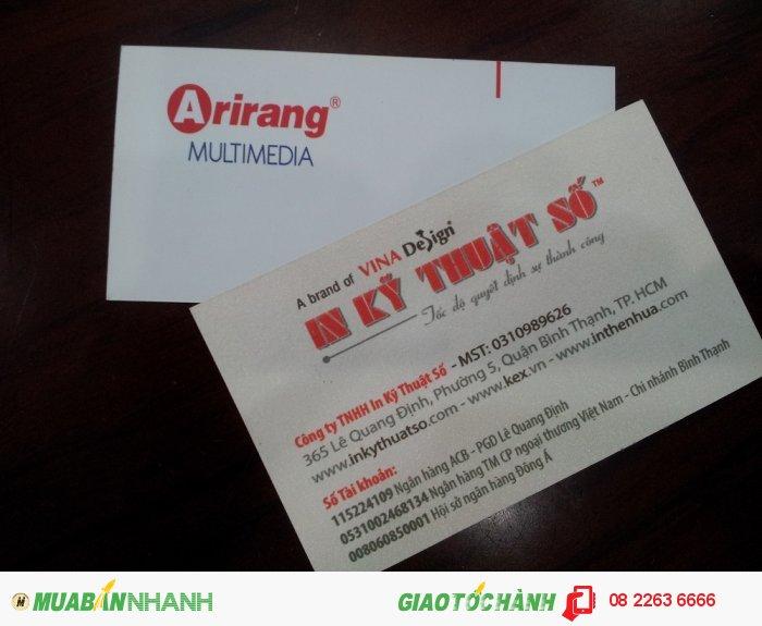 In nhanh card visit Ariang Multimedia - thực hiện in bởi In Kỹ Thuật Số