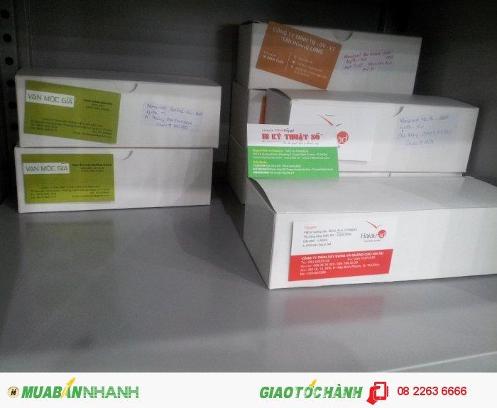 Thành phẩm in card visit đóng hộp chuẩn bị giao cho khách hàng từ In Kỹ Thuật Số