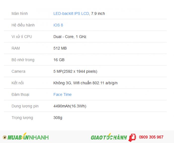 Tablet IPAD MINI Wifi 16G