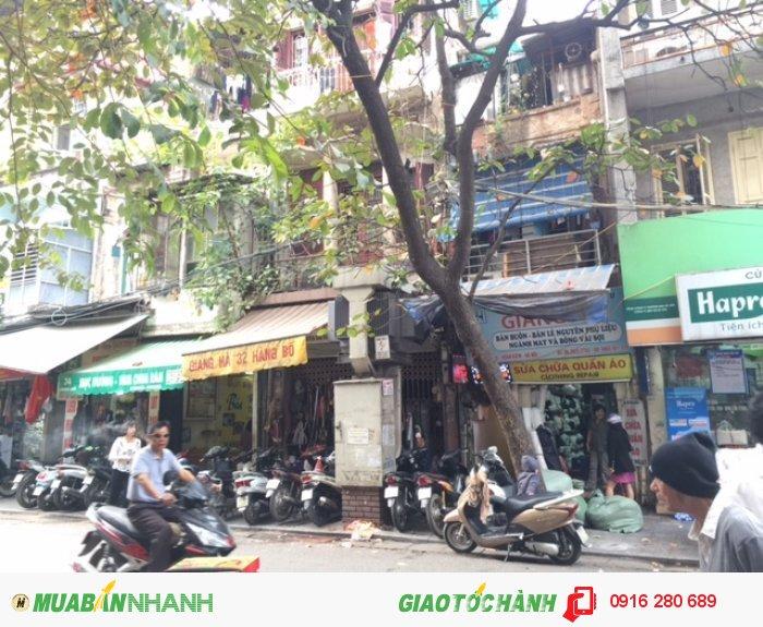 Bán nhà mặt phố số 32 Hàng Bồ mặt tiền 4,33m tiện kinh doanh