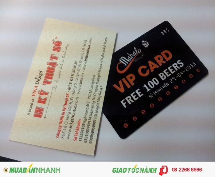 In thẻ nhựa số lượng ít   In VIP card cho Mahalo   Dịch vụ in thẻ nhựa tại In K�...