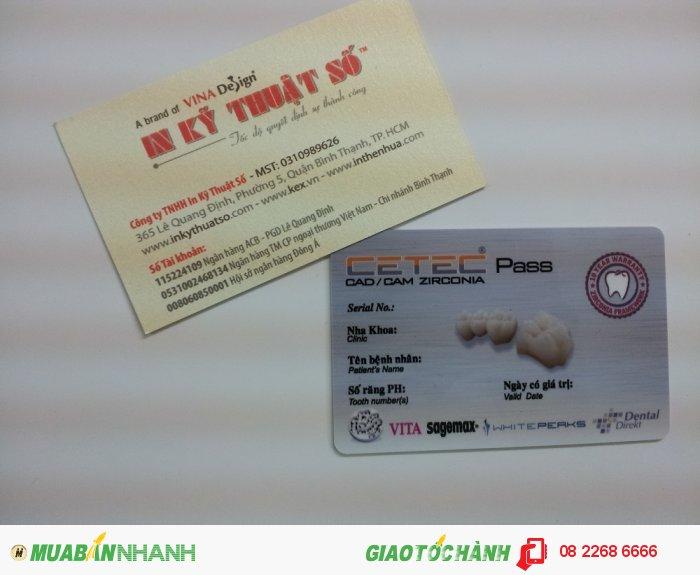 In thẻ nhựa khách hàng cho trung tâm nha khoa   In thẻ nhựa số lượng ít tại In K�...