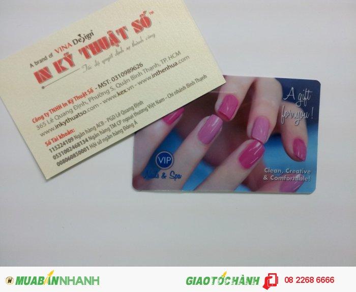 In thẻ khách hàng VIP cho Nail & Spa   In thẻ nhựa cho spa tại In Kỹ Thuật Số