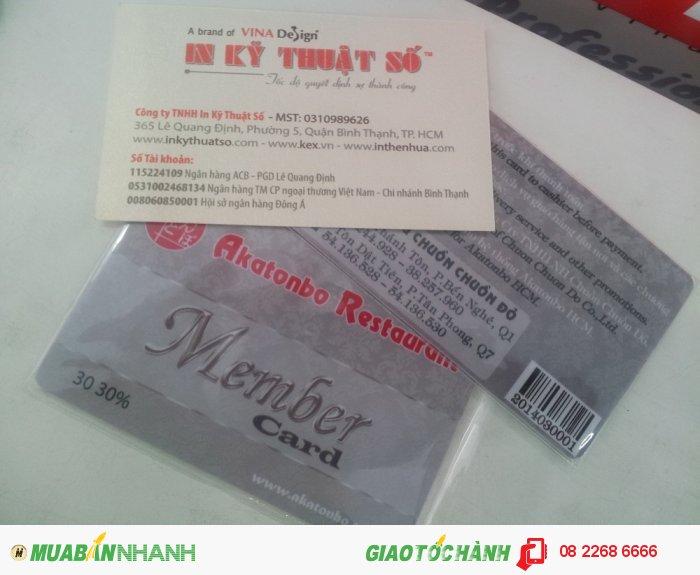 In thẻ nhựa thành viên | In thẻ Member Card có mã Barcode tại In Kỹ Thuật Số