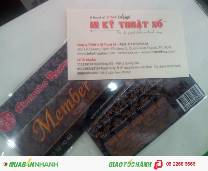 In thẻ nhựa thành viên cho nhà hàng Nhật - thực hiện bởi In Kỹ Thuật Số