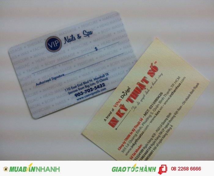 In thẻ VIP khách hàng tại In Kỹ Thuật Số cho Nail & Spa làm đẹp